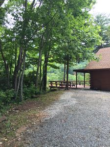 Photo for SERENE RUSTIC EXPANSIVE VIEW  Log cabin gated, quiet, peaceful, private, cozy