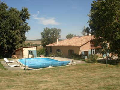 Photo for Large renovated farmhouse with pool in south-west France