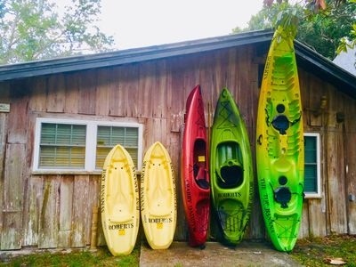 Photo for CABIN ON Weeki Wachee River, Kayaks for the Family and a Canoe!