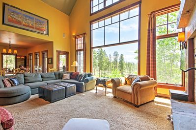 Large picture windows allow for magnificent views while you relax.