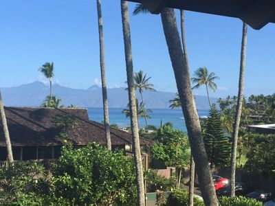 Your beautiful ocean view to Molokai from your condo lanai.  Paradise Everyday!!