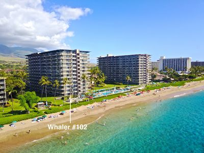 "Photo for Hawaii Life Presents ""Kahua Kai"" Whaler 102- Direct Oceanfront 2BR/2BA"