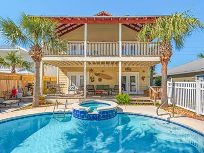 Photo for 3BR/3BA Emerald Coast Getaway w/ Pool, Spa & Game Room - 2 Blocks to Beach