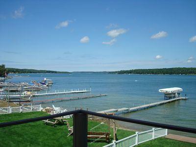 Photo for LAKE CHARLEVOIX WATERFRONT * Spacious 2+ BR, 2.5 B * BOAT SLIP * WELL APPOINTED