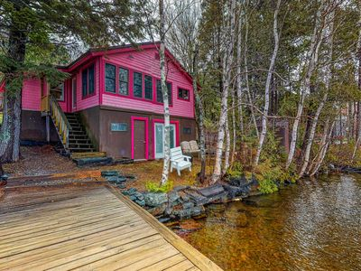 Photo for Lakefront cottage w/ dock, firepit & views - near boat launch, 2 dogs OK!
