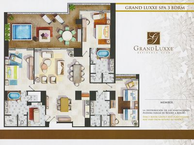 Photo for 3 BR Grand Luxxe Residence Club Platinum member A++ Spa accommodations!