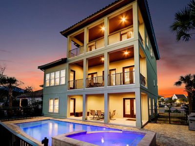 Photo for DESTINY DREAMS: This has it All! 4 King Suites, Golf Cart, Private Beach, 3 Living Rooms, Modern & C