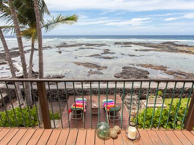 Photo for Absolute Oceanfront Puako Bungalow - Check our summer special rates.