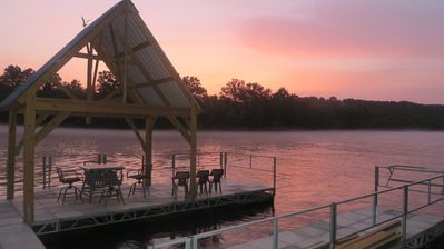 Photo for Hidden Haven on 8+ Lakeside Acres,Private Dock,Fishing,Hiking,Old World Luxury