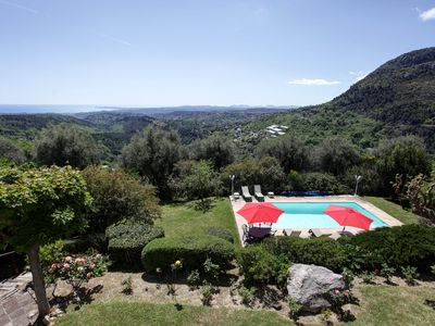 Photo for Provencal Villa with private pool and fantastic sea view of Cote D'Azur