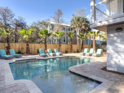 Photo for SUMMER SALE - Private Pool, Bikes, Close to Seaside and Gulf, Designer!