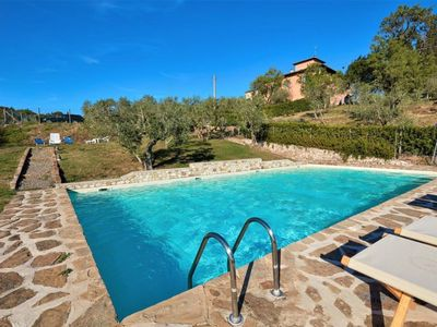 Photo for Beautiful apartment with WIFI, pool, TV, panoramic view and parking, close to Greve In Chianti