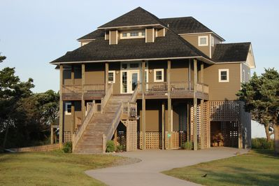 """Front of the home.  For additional photos, see our website on the """"links"""" page."""