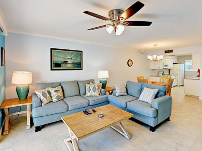 Photo for Spacious 2BR Townhouse Across from Beach – Two Floors of Living Space