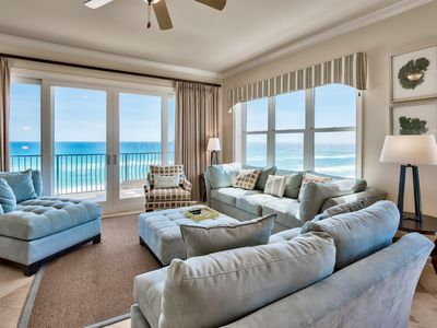 Photo for Gulf Front Luxury Condo! Quick access to the beach! Two community pools!