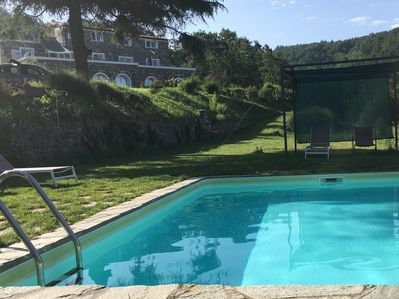 View of pool and garden