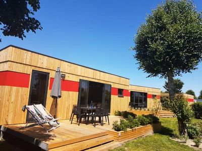 Photo for Camping Les Aubépines **** - Lodge Les Voiles 3 rooms 5 people