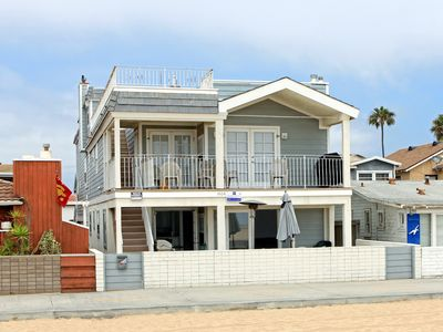 Photo for Newly Remodeled Ocean Front 1st Floor Triplex, Private Patio & BBQ!