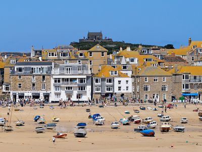Photo for Magnificent balcony, unrivalled sea views of the iconic harbour and St Ives bay