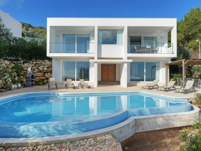 Photo for Villa Tin Uno - stylish villa with infinity pool & sea views! Wi-Fi, A/C & BBQ