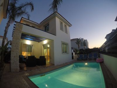"""Photo for Beautiful Pernera villa """"Amelia"""" with private pool, BBQ, wifi & ping pong"""