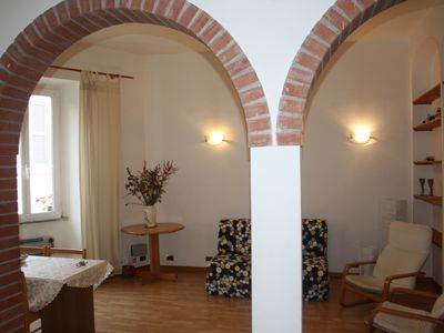 Photo for The historic Coliseum, in the Rione Monti, delicious and romantic apartment