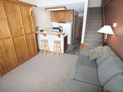 Photo for Ski in/ski out, village view with access to hot tubs