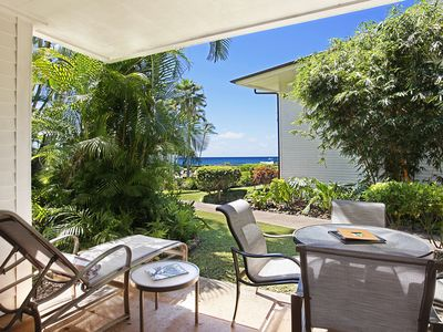 Photo for Poipu Kapili #19: Ground floor end unit with AC & Partial Ocean Views
