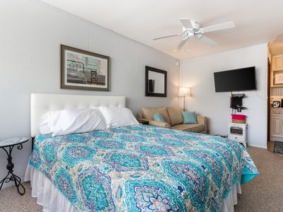 Photo for NEW LISTING! Studio just steps from the beach, shops, and local attractions