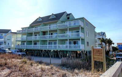 Photo for Sunskipper D11 - Oceanfront penthouse condo with loft and pool