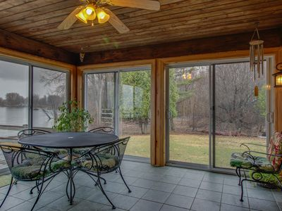 Photo for Gorgeous lakefront home with unbeatable lake views, sauna, huge yard!