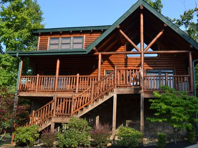 Photo for 3 bedroom 2 bathroom cabin near Pigeon Forge. Pet friendly. Now reserving 2018!
