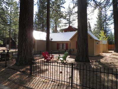 Photo for Merced Dog Friendly Cabin Steps to the Lake with a double lot fenced yard.