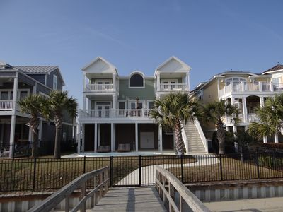 Photo for Luxurious Sunset Beach Island Home On The Water With Pool And Boat Dock