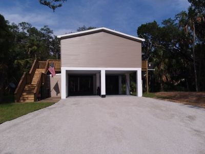 Photo for 3 Bedroom 2 Bath, waterfront stilt home, with screen room, and outdoor cook area
