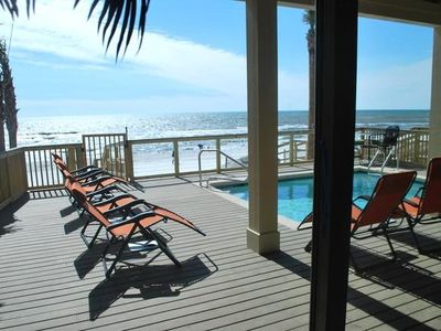 Photo for The Lighthouse - 6 Bd Home w/ Beachfront Pool & Hot Tub!