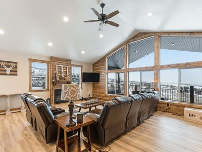 Photo for Beautiful Bear Lake home w/large deck, gas grill, and lake views -close to golf!