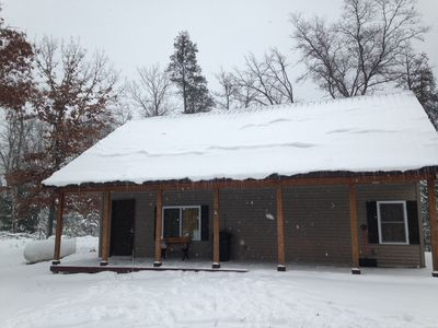 Photo for BEAUTIFUL NEW CABIN CLOSE TO WOLF LAKE, CLUB 37 & TRAILHEAD