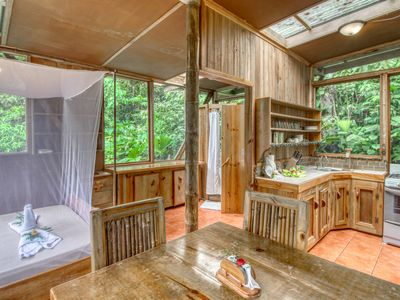 Photo for Private treehouse in the middle of the jungle w/outdoor dining area and balcony