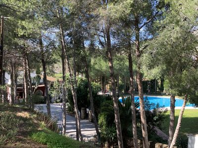 Photo for CHALET IN PRIVATE URBANIZATION TO SPEND A FEW DAYS OF RELAX WITH 2 SWEET WATER POOLS AND COMMUNITY TENNIS COURT. ONLY 1 Km from the Town and 5 Km from Fuengirola