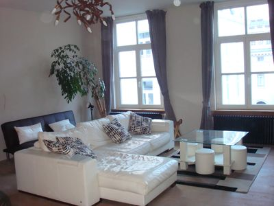 Photo for Luminous, quiet & spacious 100 m² in city center