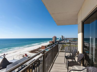 Photo for 2 Gulf-Front Units w/ 3BR Total - Private Balcony, Rooftop Heated Pool &  Spa