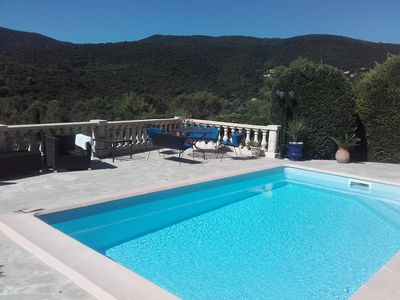 Photo for Luxury villa with pool beachfront on the Gulf of Saint-Tropez