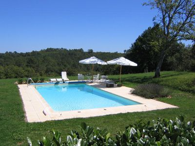 Photo for Charming private holiday home with private tennis court and pool near Cazals
