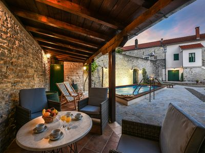 Photo for Surrounded by historical walls, pet friendly, private HETAED swiming pool