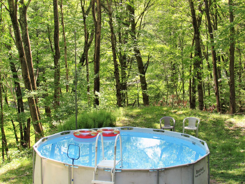 Poconos Secluded Home Private Pond Hot Tu Homeaway