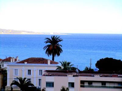 Photo for Cannes/Golfe Juan, Sea view, 2 bedrooms, Spacious, Parking, Air con