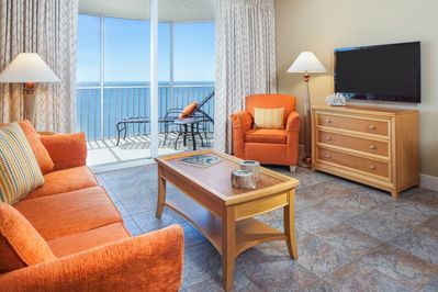 This spacious suite features comfy sofa bed, TV, wi-fi and comes with breathtaking views right from the balcony! Can you wish for more?