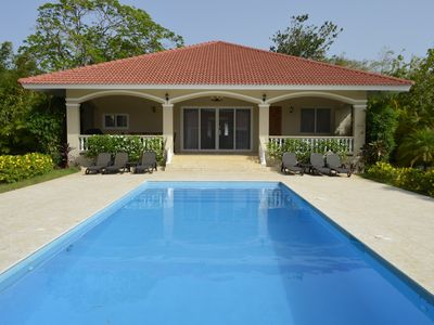 Photo for Residencial Hispaniola 4 or 5 Bed Villa 4 Bath  Pool Walk To Beach & Clubs
