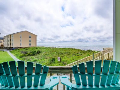 Photo for Oceanfront Condo, Steps Away from the beach access